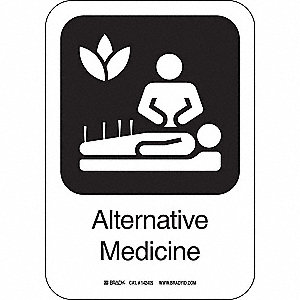ALTERNATIVE MED 10INHX7INW AL W/TXT