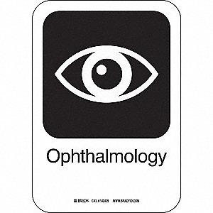 OPHTHALMOLOGY 10INHX7INW AL W/TXT