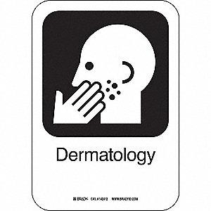 DERMATOLOGY 10INHX7INW AL W/TXT