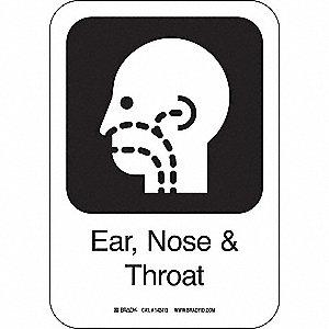 EAR,NOSE+THROAT 10INHX7INW AL W/TXT