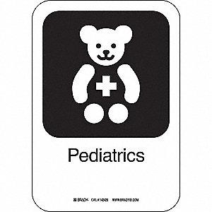 PEDIATRICS 10INHX7INW AL W/TXT