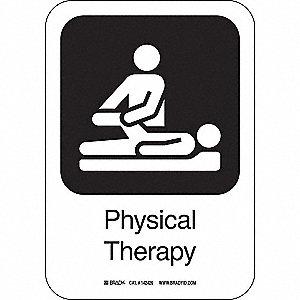 PHYSICAL THERA 10INHX7INW AL W/TXT