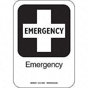 EMERGENCY 10INHX7INW AL W/TXT