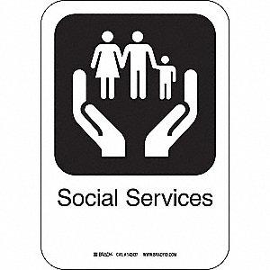SOCIAL SERVICES 10INHX7INW AL W/TXT