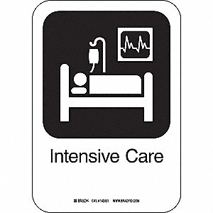 INTENSIVE CARE 10INHX7INW PL W/TXT