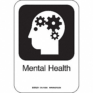 MENTAL HEALTH 10INHX7INW PL W/TXT