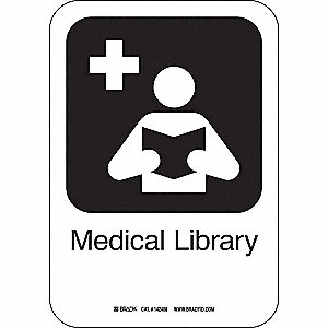 MEDICAL LIBRARY 10INHX7INW PL W/TXT