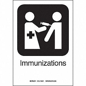 IMMUNIZATIONS 10INHX7INW SS W/TXT