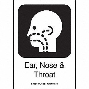 EAR,NOSE+THROAT 10INHX7INW SS W/TXT