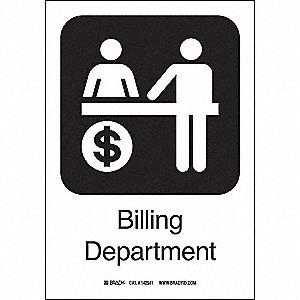 BILLING DEPART 10INHX7INW SS W/TXT