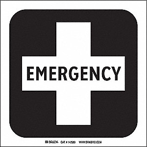 EMERGENCY PICTO ONLY 8X8 SS