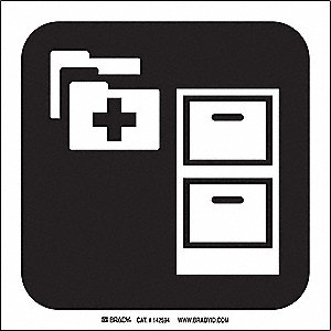 MEDICAL RECORDS PICTO ONLY 8X8 SS