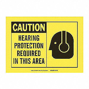 SIGN 7X10 PLASTIC HEARING PROTECTIO