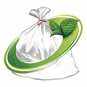 45 gal. Clear Rodent Repellent Trash Bags, Heavy Strength Rating, Coreless Roll, 250 PK
