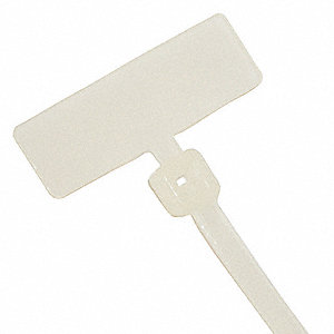 "18 lb. Plastic Pawl Indoor Nylon Cable Tie, 4.00""L, Natural, 100PK"