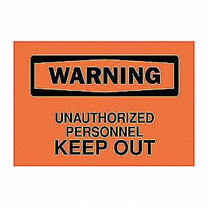 SIGN WARNING 7X10