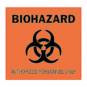 SIGN BIOHAZARD 7X10