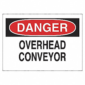 SIGN OVERHEAD CONVEYOR