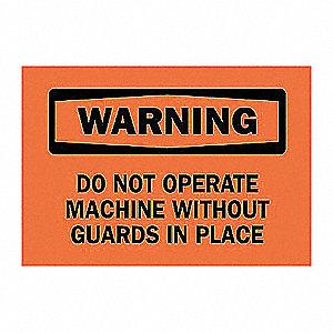 SIGN WARNING 10X14