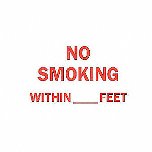 SIGN NO SMOKING WITHIN FEET