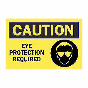 SIGN CAUTION W/GRAPHIC 10X14