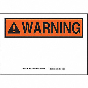WARNING SIGN PLASTIC 7X10