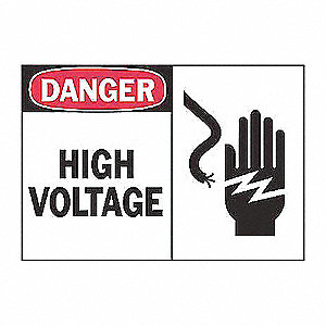 SIGN HIGH-VOLTAGE