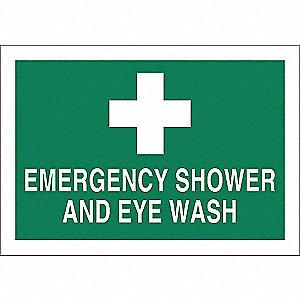 SIGN EMERG-SHOWER-EYEWASH