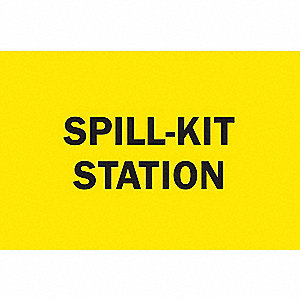 SIGN SPILL KIT STATION ALUM 10X14