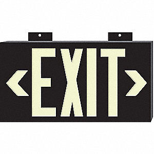 SIGN EXIT NON-ELEC GLO 15X8IN