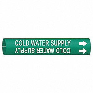 PIPEMARKER 41821 COLD WATER SUPPLY