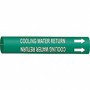 PIPEMARKER COOLING WATER RETURN