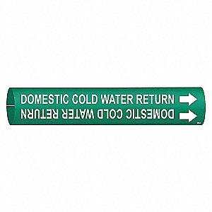 PIPEMARKER DOMESTIC COLD WATER RETU