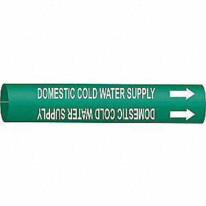 PIPEMARKER DOMESTIC COLD WATER SUPP