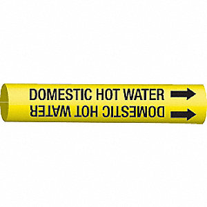 PIPEMARKER 41450 COMESTIC HOT WATER