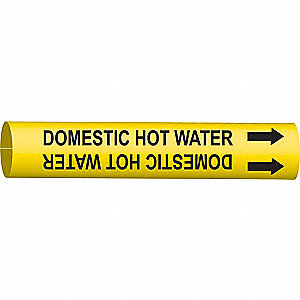 PIPEMARKER DOMESTIC HOT WATER