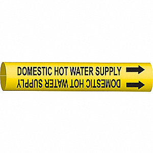 PIPEMARKER DOMESTIC HOT WATER SUPPL