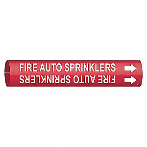 PIPEMARKER 41663 FIRE AUTO SPRINKLE
