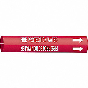 PIPEMARKER 41859 FIRE PROTECTION WA