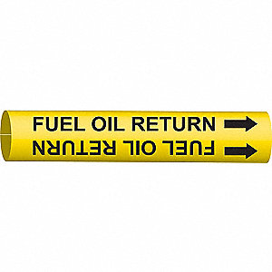 PIPEMARKER FUEL OIL RETURN