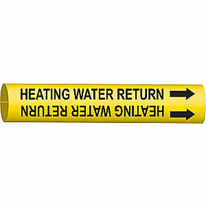 PIPEMARKER 48245 HEATING WATER RETU