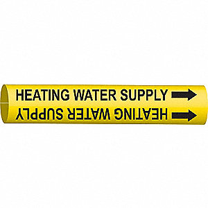 PIPEMARKER HEATING WATER SUPPLY