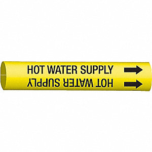 PIPEMARKER HOT WATER SUPPLY