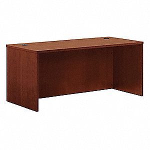 Office Desk Shell,66 x 29 x 30 In,Cherry