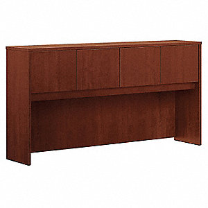 Desk Stack-on Hutch w/Door,Medium Cherry