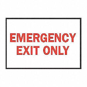 SIGN DIR/EXIT N/H 10X14