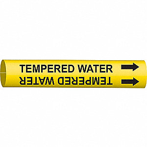 PIPEMARKER TEMPERED WATER