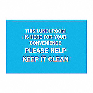 SIGN THIS LUNCHROOM IS HERE FOR YOU
