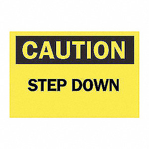 SIGN STEP DOWN