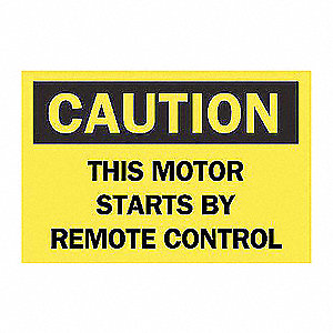 SIGN THIS MOTOR REMOTE